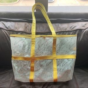 Nina Ricci Frosted Clear & Yellow Plastic Tote Bag